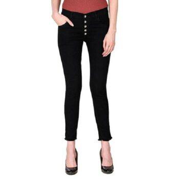 Stylish Stretchable Black Denim Jeans