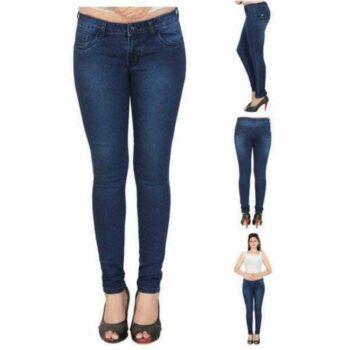 Stylish Women Jeans Dark Blue