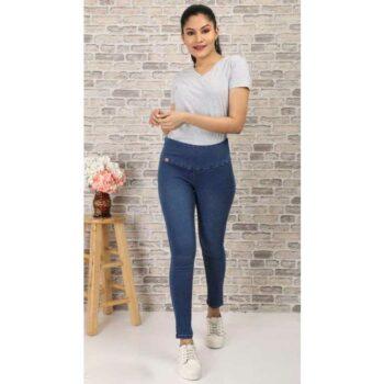 Stylish Women's Denim Jeans Dark Blue