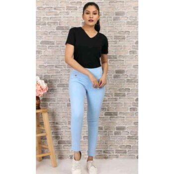 Stylish Women's Denim Jeans Light Blue