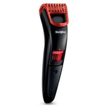 Techfire ns 2019 Rechargeble Ultra Sleek Beard Trimmer for Men Runtime 60 min Trimmer for Men (Red)