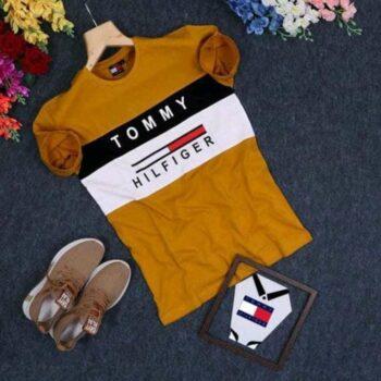 Tommy Hilfiger Men's Orange Tshirt
