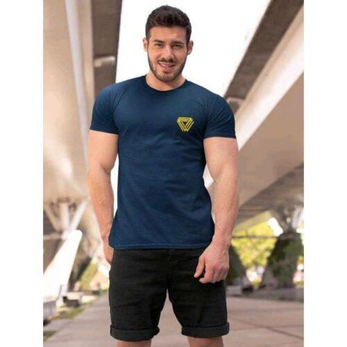 Trendy Cotton Tshirt for Men Blue