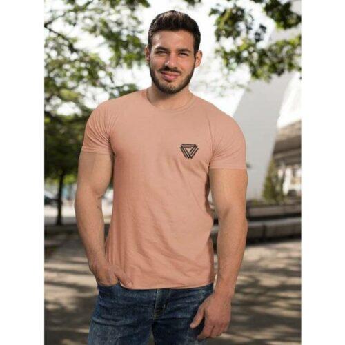 Trendy Cotton Tshirt for Men Pink
