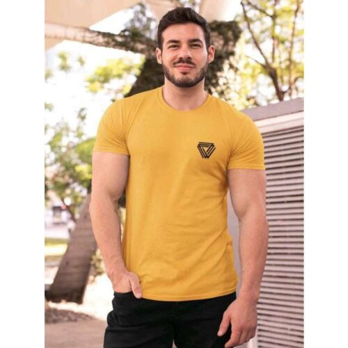 Trendy Cotton Tshirt for Men Yellow