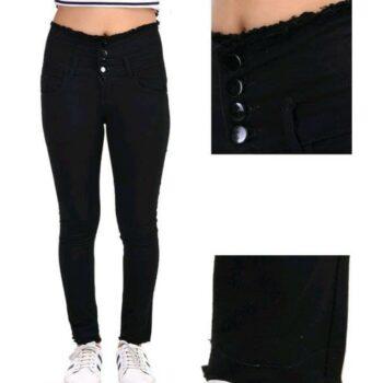 Trendy Graceful Women Jeans Black