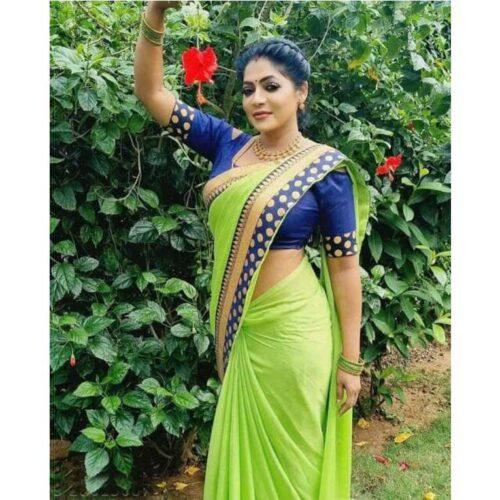 Trendy Moss Chiffon Women Saree 31