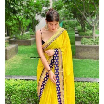 Trendy Moss Chiffon Women Saree