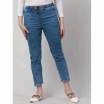 Women Denim Tie Ups Jeans