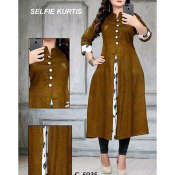 Women's Khadi Cotton Selfie Kurti
