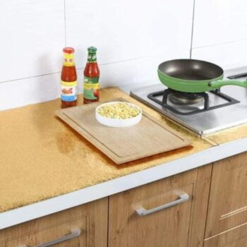 Kitchen Wall Stove Aluminum Foil Oil Proof Stickers Anti-fouling High-Temperature Self-Adhesive Wallpaper Wall Sticker