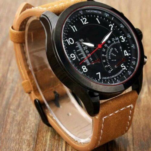 Analog Black Dial Wrist Watch for Men