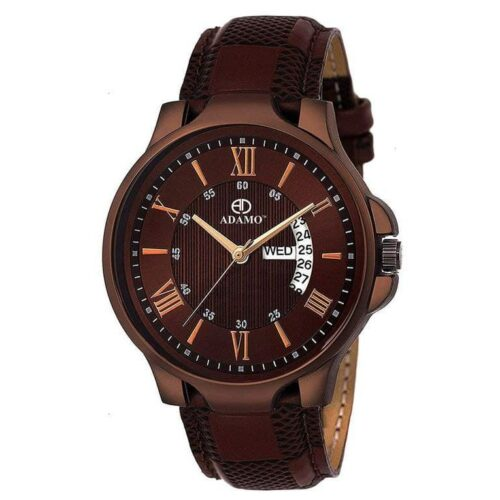 Attractive Brown Leather Watch for Men
