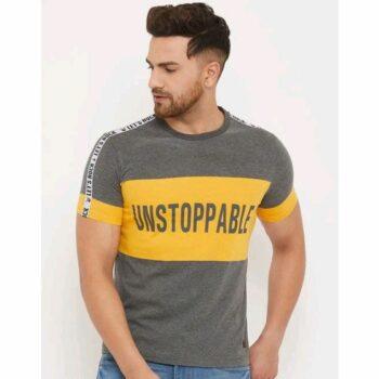Austin Wood Men's Half Sleeve Round Neck Tshirt