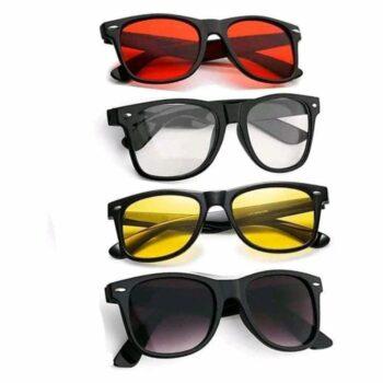 Casual Modern Sunglasses for Men Pack of 4