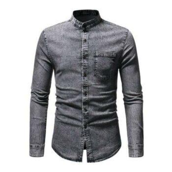Classic Fashionista Men Denim Shirt