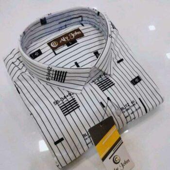 Myra Attractive Men's Cotton Striped Shirt