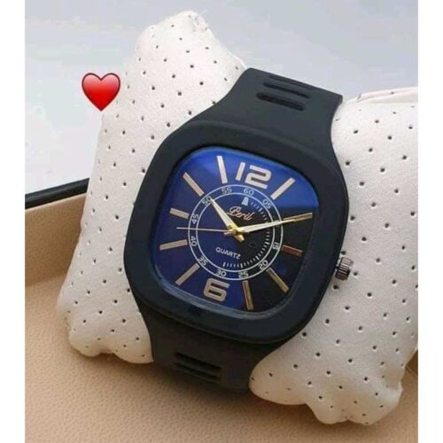 Classic Silicone Black Wrist Watch for Men