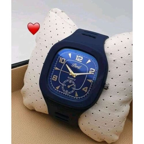Classic Silicone Blue Wrist Watch for Men