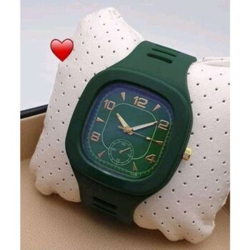 Classic Silicone Green Wrist Watch for Men