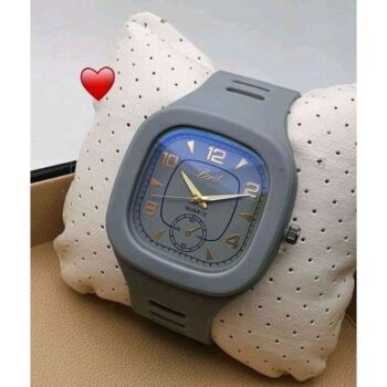 Classic Silicone Grey Wrist Watch for Men