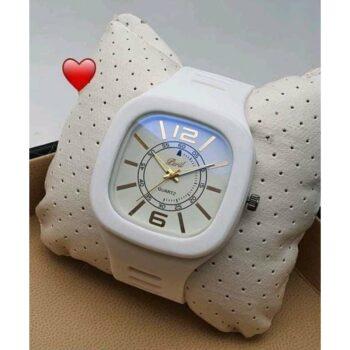 Classic Silicone White Wrist Watch for Men