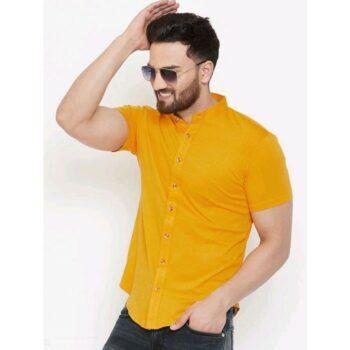 Classy Fashionable Men Short Sleeves Cotton Shirt