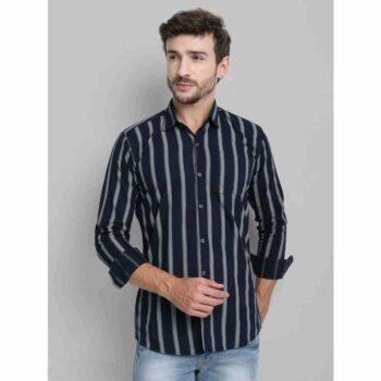 Comfy Graceful Men Striped Shirt