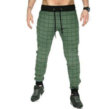 Cotton Checkered Sports Jogger for Men