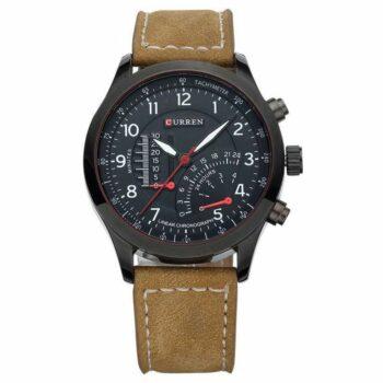 Curren 8152 black dial watch Analog Watch For Men