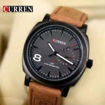 Curren Brown Wrist Watch for Men