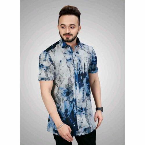 Digital Printed Multicolor Men Shirt