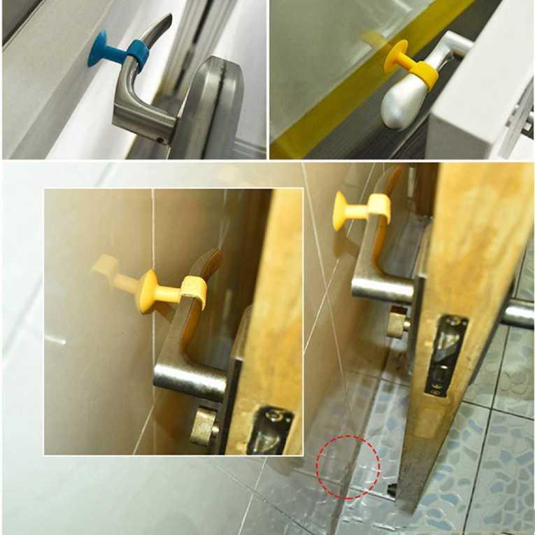 Door Stopper Mini Anti-Collision Silicone Door Handle Crash Pad Bumper Guard Rubber Stopper Wall Mute Crash Pad Silencer Pack of 3 Multi-Colour