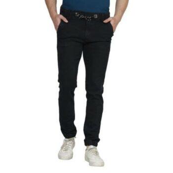 Elegant Men's Solid Jogger Jeans