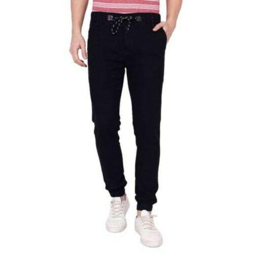 Fancy Denim Black Jogger Jeans for Men