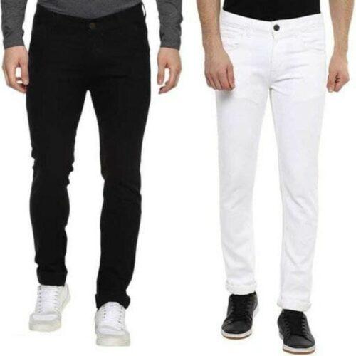 Elegant Men's Solid Jogger Jeans (2)