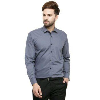 Elegant Solid Cotton Men Formal Shirt