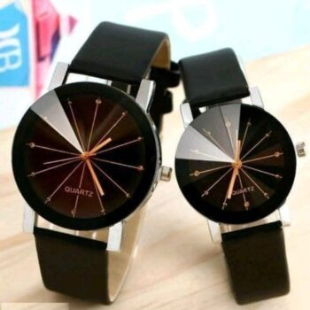 Fashionable Trendy Antique Analog Couple Watch