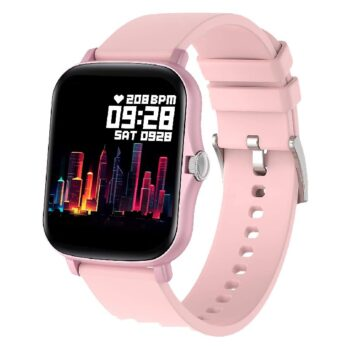 Fire-Boltt Beast SPO2 1-69 Full Touch Large HD Color Display Smart Watch, 8 Days Battery Life, IP67 Waterpoof with Heart Rate Monitor, Sleep & Breathe Monitoring with Rotating Button (Pink)