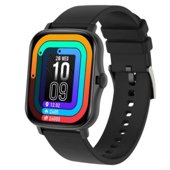 """Fire-Boltt Beast SpO2 1.69"""" Industry's Largest Display Size Full Touch Smart Watch with Blood Oxygen Monitoring, Heart Rate Monitor, Multiple Watch Faces & Long Battery Life (Black)"""