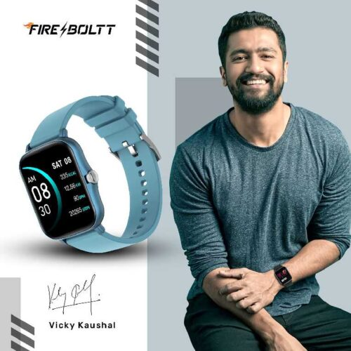 Fire-Boltt Beast SpO2 1-69 Industry's Largest Display Size Full Touch Smart Watch with Blood Oxygen Monitoring, Heart Rate Monitor, Multiple Watch Faces & Long Battery Life (Blue)
