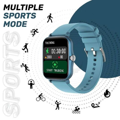 Fire Boltt Beast SpO2 1 69 Industrys Largest Display Size Full Touch Smart Watch with Blood Oxygen Monitoring Heart Rate Monitor Multiple Watch Faces Long Battery Life Blue 9
