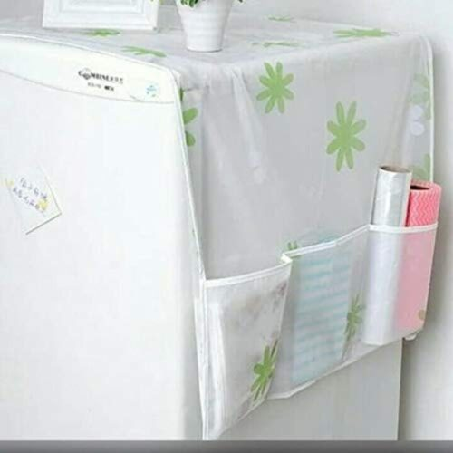 Home Transparent Printing Waterproof Cloth dust Cover Household Refrigerator Cover Towel Hanging Storage Bag Flamingo 130 X 55cm in Random Color Print 1pc 2