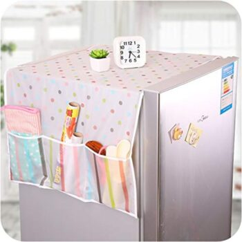 Home Transparent Printing Waterproof Cloth dust Cover Household Refrigerator Cover Towel Hanging Storage Bag Flamingo 130 X 55cm in Random Color Print 1pc
