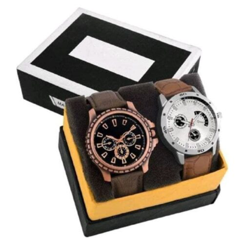 Leather Combo Best Gift Watch for Men