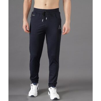 Lycra 4Way Solid With Stripes Slim Fit Track Pant