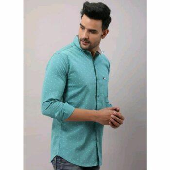 Mialo Men's Semi Formal Wear Printed Shirt