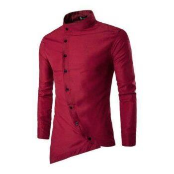 Myhra Trendy Cotton Blend Slim Fit Solid Shirt