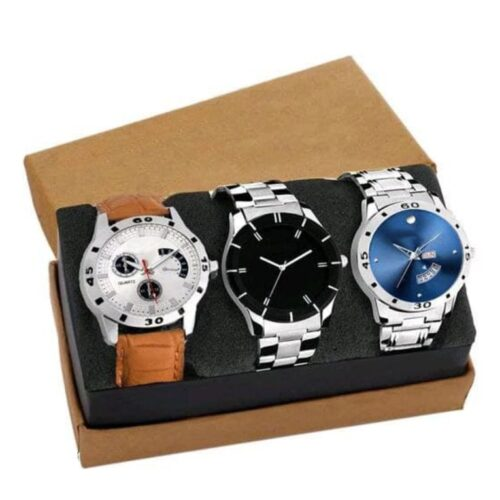 Pack of 3 Analog Wrist Watch for Men