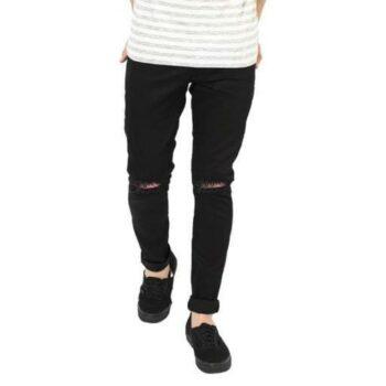 Ravishing Modern Men Denim Jeans Damaged Black